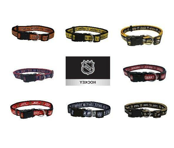 nhl hockey dog collar pet gear multiple