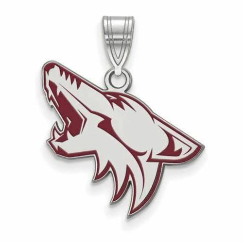 ss nhl arizona coyotes large enamel pendant