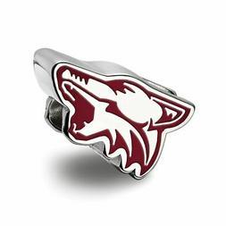 LogoArt NHL Arizona Coyotes Sterling Silver Cushion Shaped L