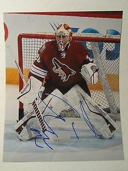 LOUIS DOMINGUE ARIZONA COYOTES AUTOGRAPH photo signed GLOSSY