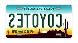 Metal Vanity License Plate Tag Cover - Arizona Coyotes - Hoc