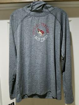 New Arizona Coyotes NHL Hockey Hooded Long Sleeve Shirt Lg 1