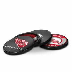 NEW! NHL ACTUAL HOCKEY PUCK COASTERS SET IN CASE LICENSED CH