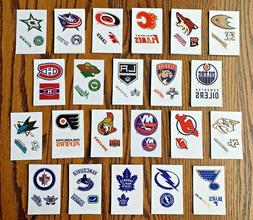 NEW NHL Logo Sticker Sheets - PICK YOUR TEAM - Ice Hockey De