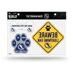 NEW! NHL PET DOG MAGNET SHEET SET BEWARE FAN LICENSED CHOOSE