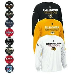 NHL Adidas Men's Authentic Climalite Performance Long Sleeve