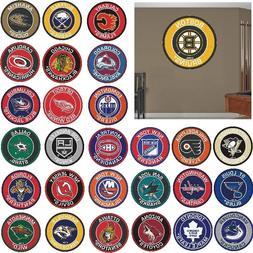 """NHL Teams - 27"""" Roundel Area Rug Floor Mat - Wall Decor - Ch"""