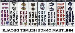 SportStar Official On-Ice NHL Hockey Helmet Decals! 3M Decal