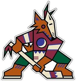Phoenix Arizona Coyotes NHL Color Die Cut Vinyl Decal Sticke