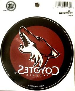 "Phoenix Coyotes PV Rico 4"" Round Flat Vinyl Decal Bumper Sti"