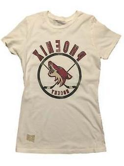 Phoenix Coyotes Retro Brand WOMEN Off-White Hockey Sticks Vi
