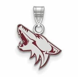 ss arizona coyotes small enamel pendant