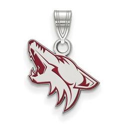 sterling silver arizona coyotes small enamel pendant