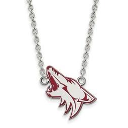 sterling silver nhl phoenix coyotes lg enamel